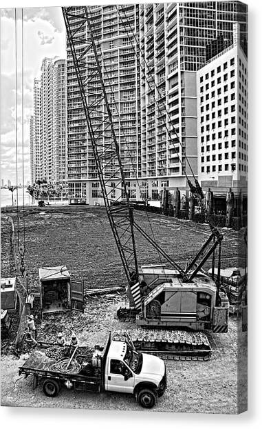 Construction Site-2 Canvas Print
