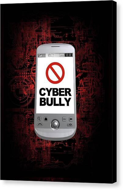 Cyber Bullying Canvas Print by Victor Habbick Visions/science Photo Library