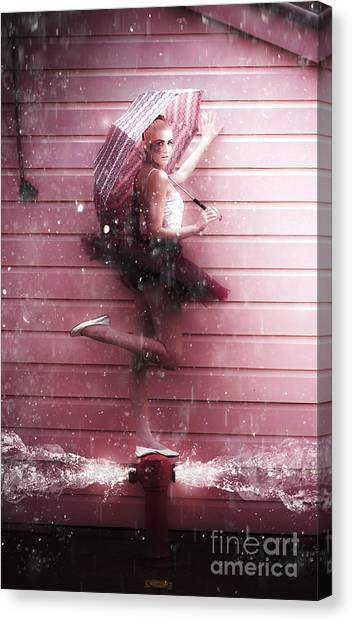 Bricks Canvas Print - Dancer by Jorgo Photography - Wall Art Gallery