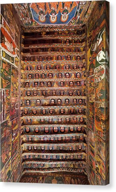 Orthodox Art Canvas Print - Debre Berhan Selassie Church In Gonder by Martin Zwick