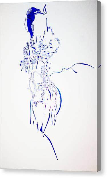 Gloria Canvas Print - Dinka Corset - South Sudan by Gloria Ssali