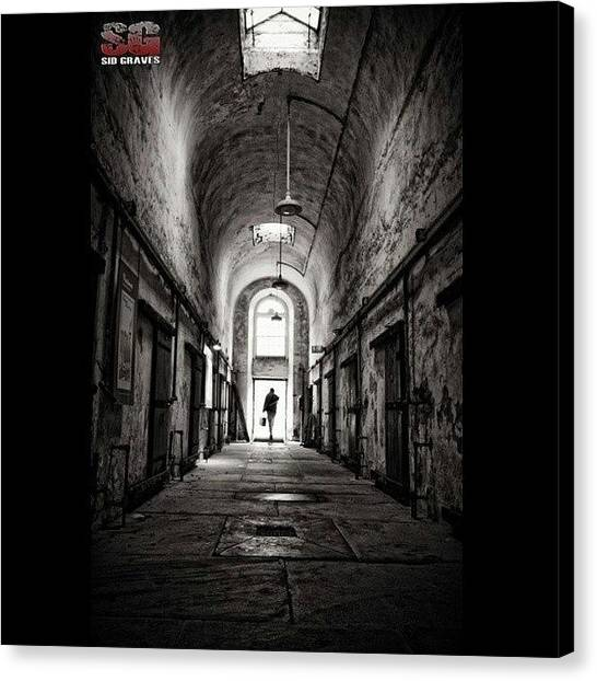 The Legion Canvas Print - Eastern State Penn / #esp #escape #jail by Sid Graves