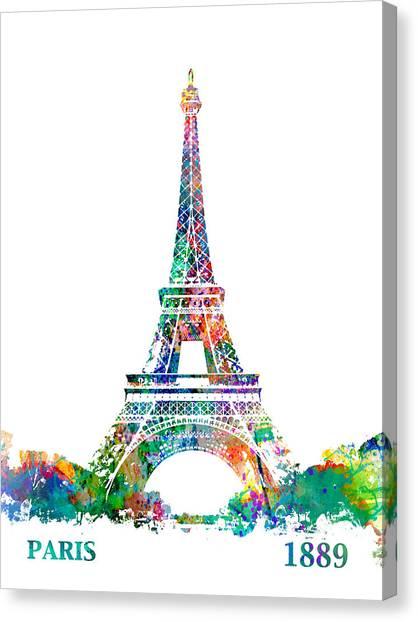 Eiffel Tower Paris France 1889 Canvas Print