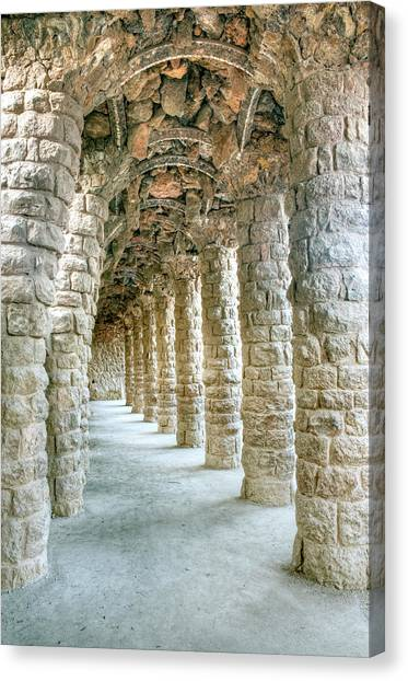 Architectural Detail Canvas Print - Europe, Spain, Catalonia, Barcelona by Rob Tilley