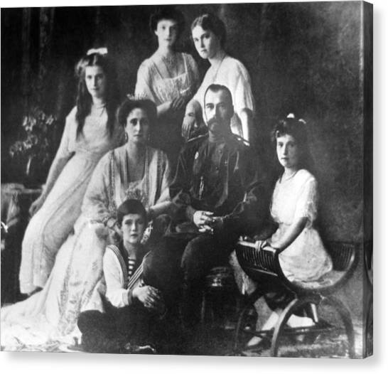 Family Of Tsar Nicholas II Of Russia Canvas Print by Laski Diffusion