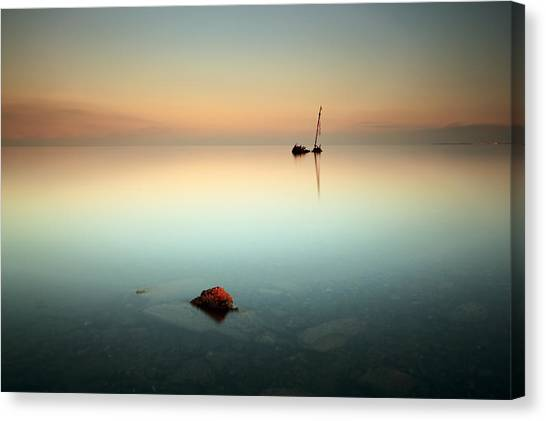 Flat Calm Shipwreck  Canvas Print