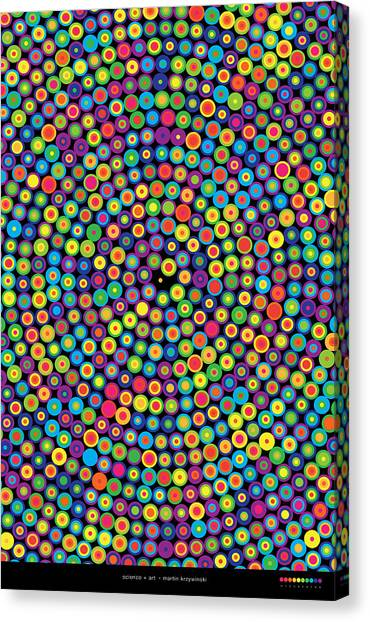 Frequency Distribution Of Digits In Pi Canvas Print by Martin Krzywinski