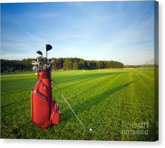 Golf Course Canvas Print - Golf Gear by Michal Bednarek