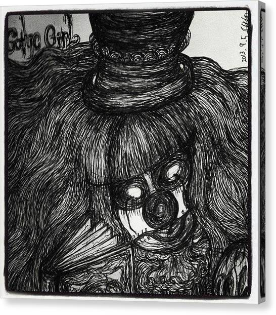 Gothic Art Canvas Print - Gothic Girl by Akiko Okabe
