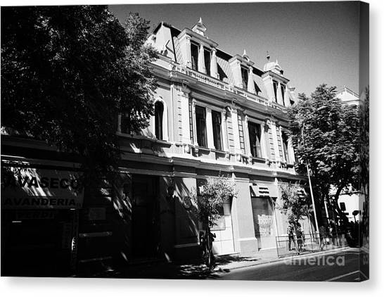 headquarters of the fire department of Santiago Chile Canvas Print by Joe Fox