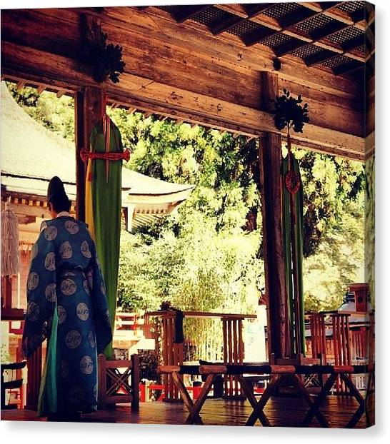 Priests Canvas Print - Hiyoshi Taisha Shrine  日吉大社 by My Senx