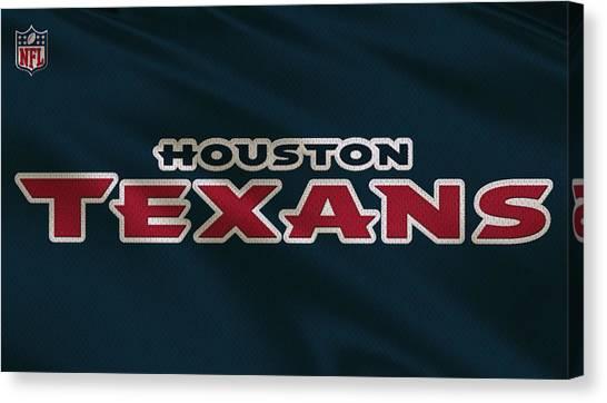Houston Texans Canvas Print - Houston Texans Uniform by Joe Hamilton
