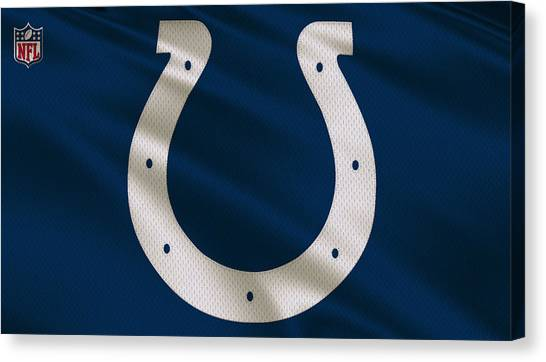 Indianapolis Colts Canvas Print - Indianapolis Colts Uniform by Joe Hamilton