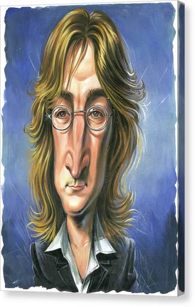 John Lennon Canvas Print - John Lennon by Art