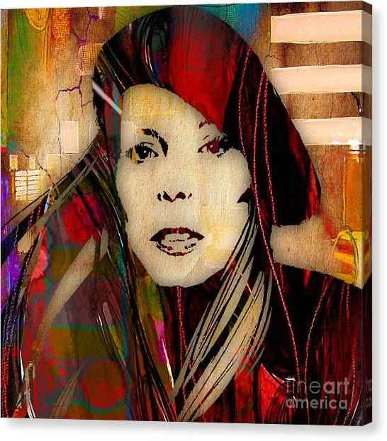 Joni Mitchell Canvas Print - Joni Mitchell Collection by Marvin Blaine