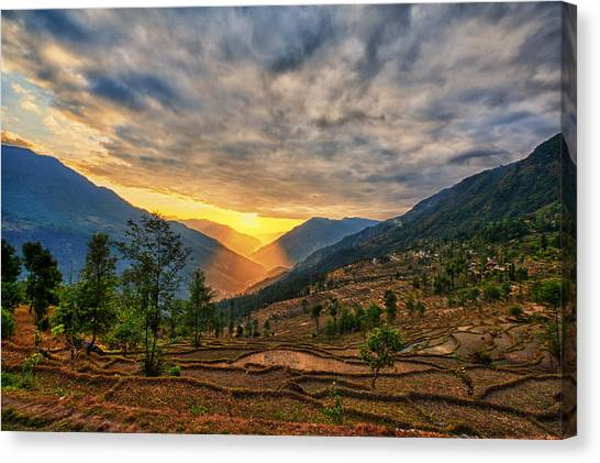 Kalinchok Kathmandu Valley Nepal Canvas Print