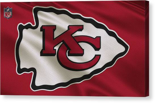 Nfc Canvas Print - Kansas City Chiefs Uniform by Joe Hamilton