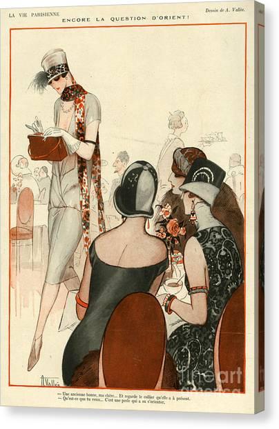 La Vie Parisienne 1924 1920s France A Canvas Print by The Advertising Archives