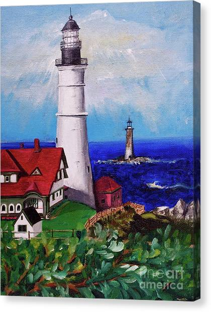 Lighthouse Hill Canvas Print