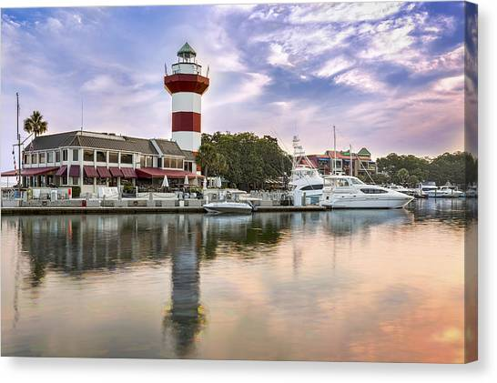 Lighthouse On Hilton Head Island Canvas Print