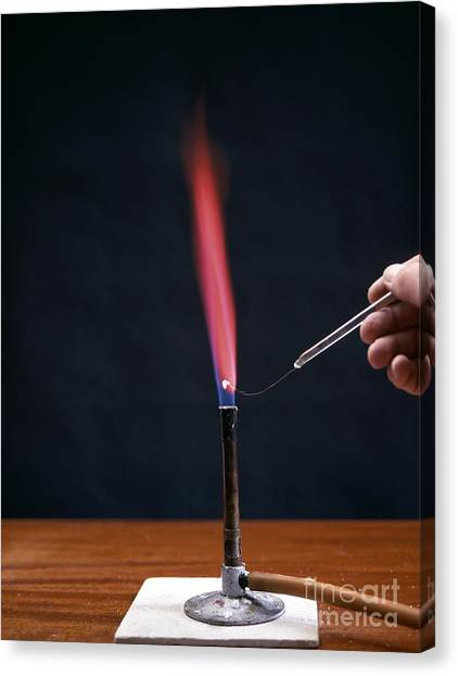 Flame Test Canvas Print - Lithium Flame Test by Andrew Lambert Photography