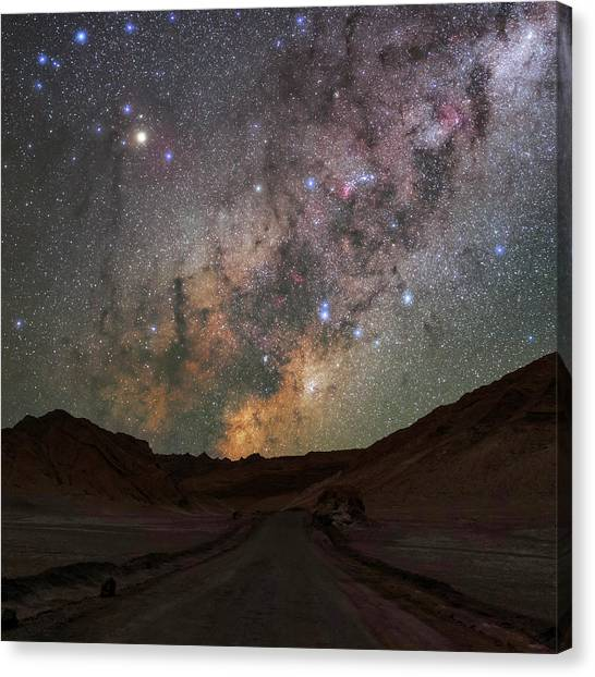 La Galaxy Canvas Print - Milky Way Over The Atacama Desert by Babak Tafreshi