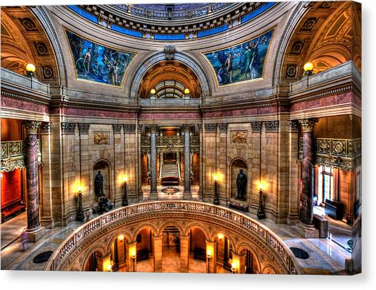 Paul Ryan Canvas Print - Minnesota State Capitol  by Amanda Stadther