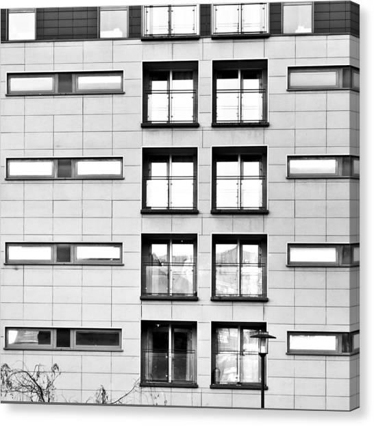 Bachelor Canvas Print - Modern Apartments by Tom Gowanlock