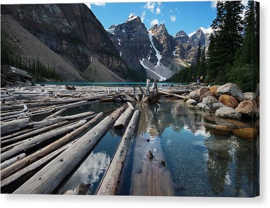 Canada Glacier Canvas Print - Moraine Lake by Bernard Chen