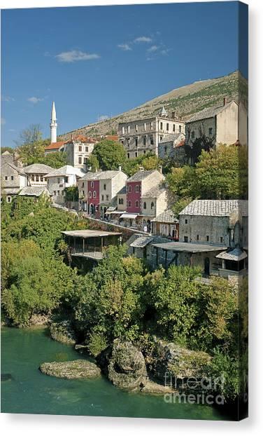 Mostar In Bosnia Herzegovina Canvas Print
