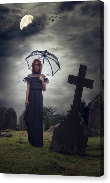 Black Widow Canvas Print - Mourning by Joana Kruse
