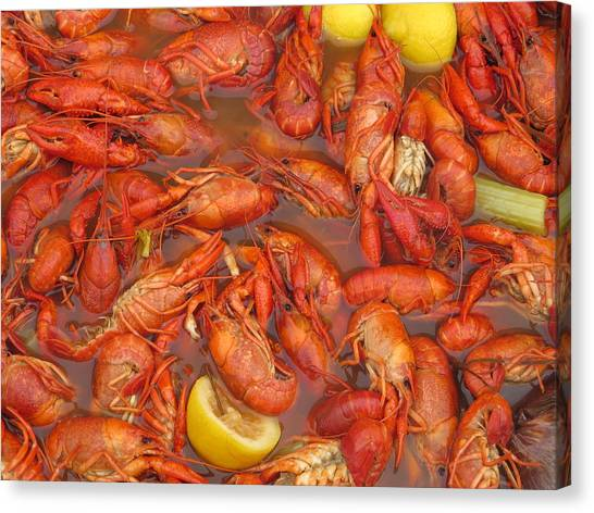 Jambalaya Canvas Print - New Orleans French Quarter Cajun Food Seafood By Art504 by Sean Gautreaux
