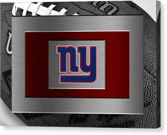 New York Giants Canvas Print - New York Giants by Joe Hamilton