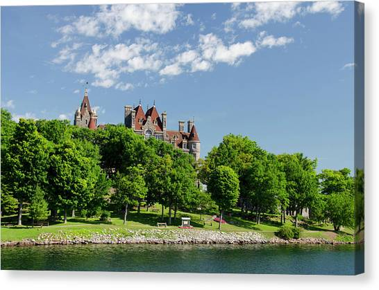Boldt Castle Canvas Print - New York, St Lawrence Seaway, Thousand by Cindy Miller Hopkins