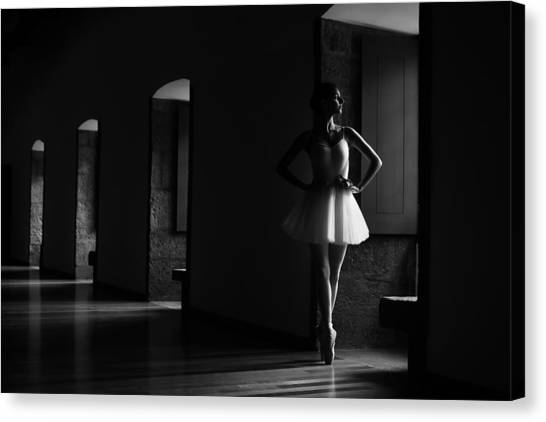 Toes Canvas Print - N/t by Paulo Medeiros