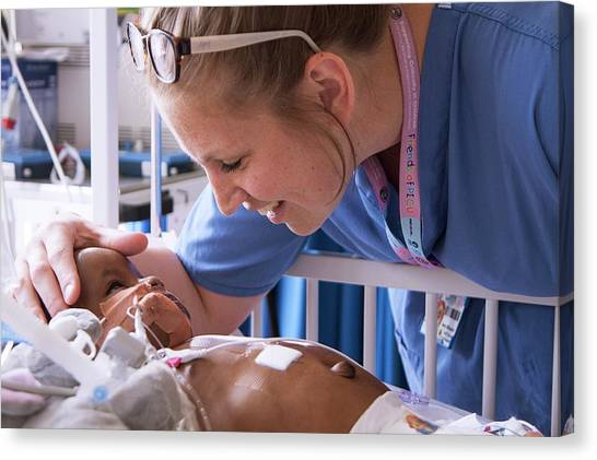 Critical Canvas Print - Paediatric Intensive Care by Life In View/science Photo Library