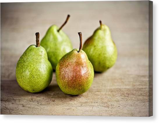 Fruits Canvas Print - Pears by Nailia Schwarz