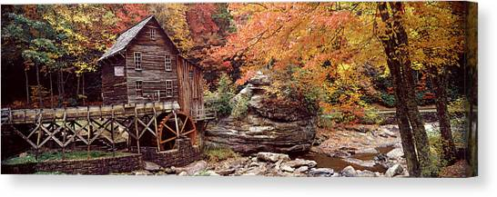 Log Cabin Canvas Print - Power Station In A Forest, Glade Creek by Panoramic Images