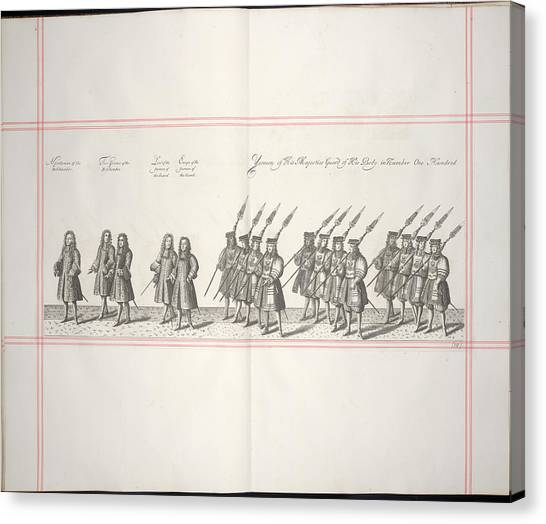 Royal Guard Canvas Print - Procession by British Library