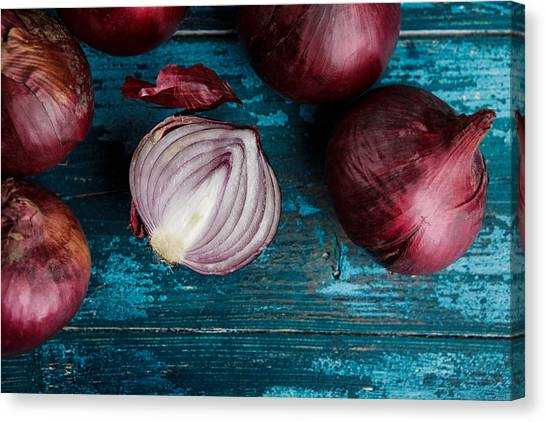 Onions Canvas Print - Red Onions by Nailia Schwarz