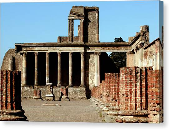 Mount Vesuvius Canvas Print - Roman Ruins by Science Photo Library