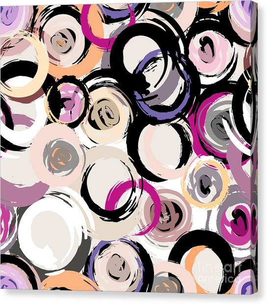 Brush Stroke Canvas Print - Seamless Background Pattern, With by Kirsten Hinte