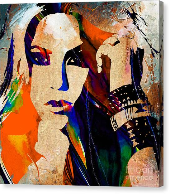 Shakira Canvas Print - Shakira Collection by Marvin Blaine