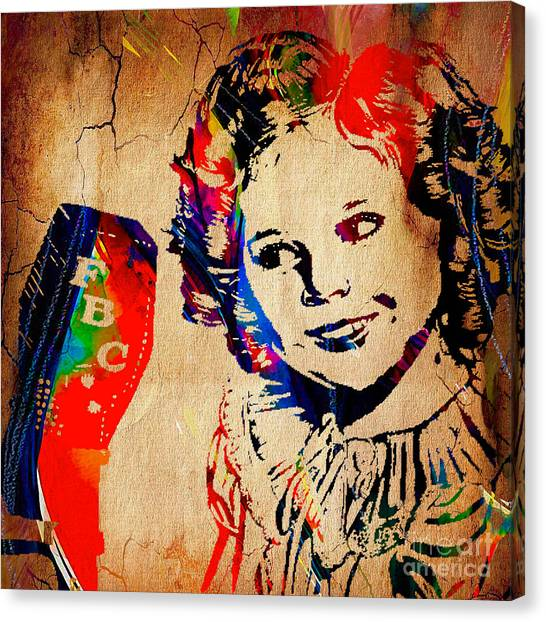 Shirley Temple Canvas Print - Shirley Temple Collection by Marvin Blaine