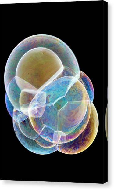 Soap Bubbles Canvas Print by Lawrence Lawry
