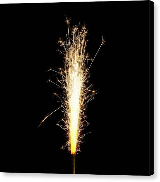 Sparklers Canvas Print - Sparkler by Science Photo Library