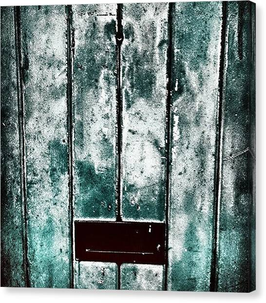 Abstract Canvas Print - The Blue Door by Jason Michael Roust