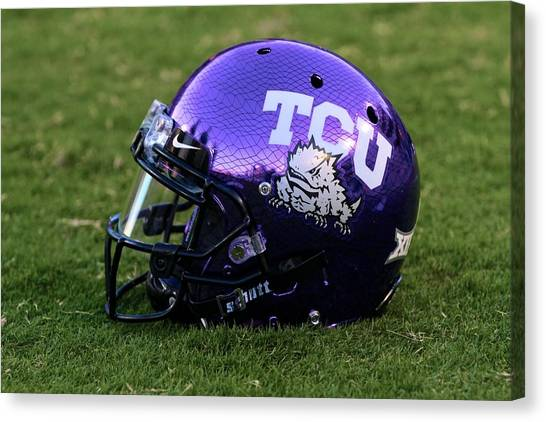 Big Xii Canvas Print - Tcu Horned Frogs by John Babis