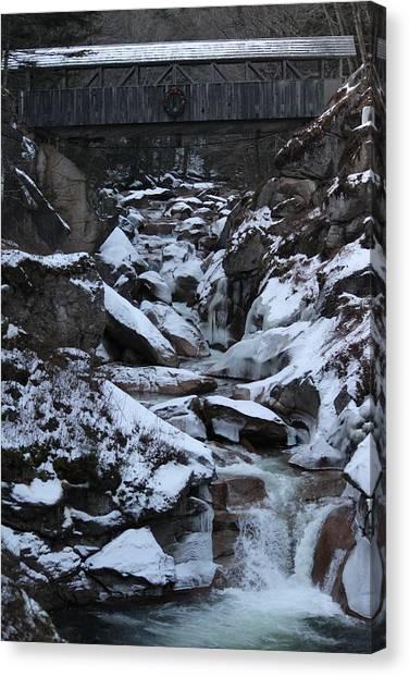 The Flume Gorge  Canvas Print