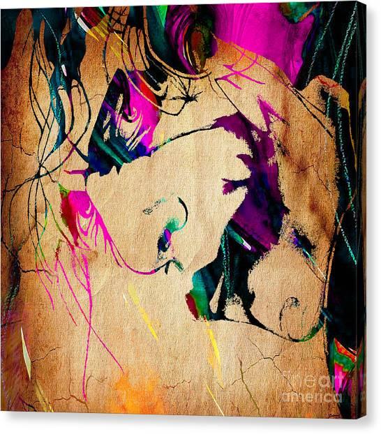 Heath Ledger Canvas Print - The Joker Heath Ledger Collection by Marvin Blaine